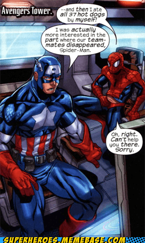 captain america hotdogs Spider-Man story Straight off the Straight off the Page - 6469740544