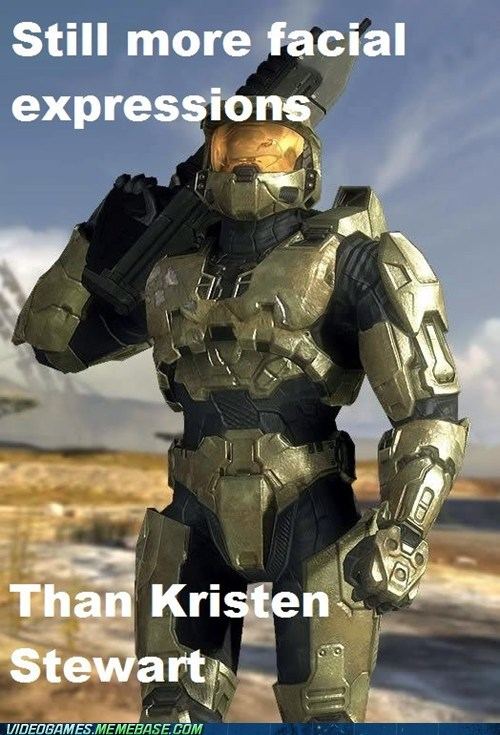 facial expressions halo kristen stewart master chief meme - 6469759488