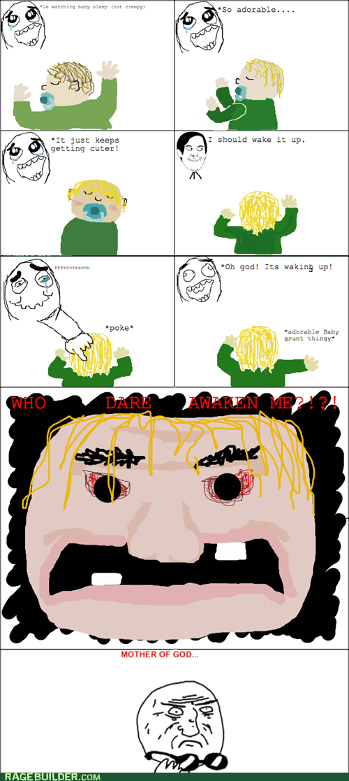 Babies cute mother of god Rage Comics sleeping - 6469797632