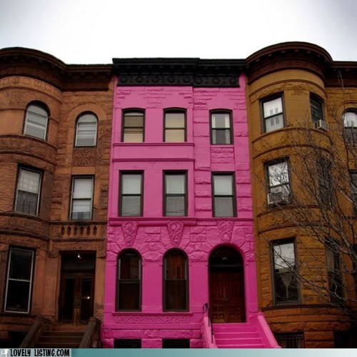 Barbie,brooklyn,brownstone,paint,pink