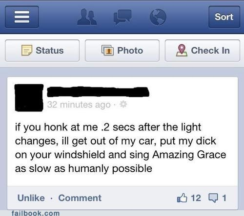 amazing grace,driving,p33n,road rage