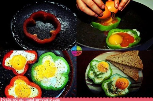 breakfast eggs epicute mold peppers