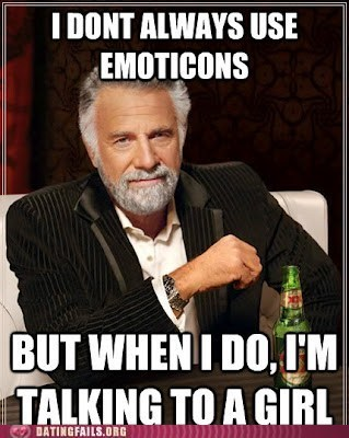 emoticons most interesting man in t most interesting man in the world talking to a girl - 6469936384