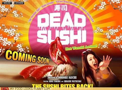 dead horror killer Movie poster scary sushi - 6469963776
