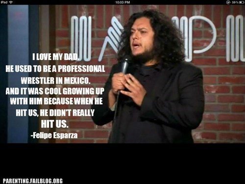 felipe esparza,stand-up comedy,wrestling