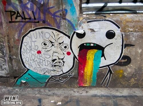 graffiti hacked irl Rage Comics rage faces Street Art - 6470135040
