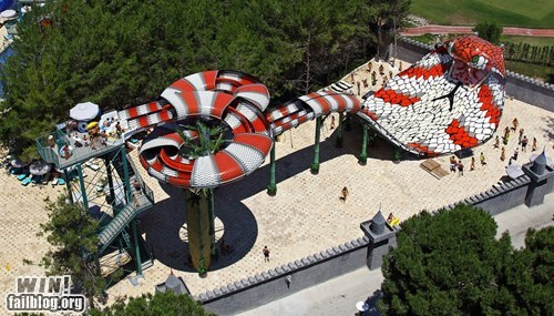 cobra design snake water park water slide whee - 6470138112