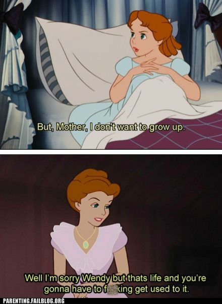 disney,growing up,motherdaughter,peter pan