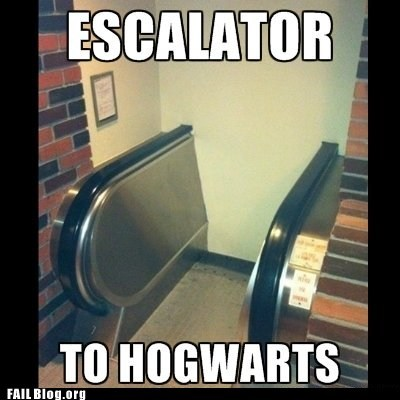 construction fail,escalator,fail nation,g rated,Hogwarts
