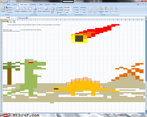 dinosaurs,employee of the month,microsoft excel