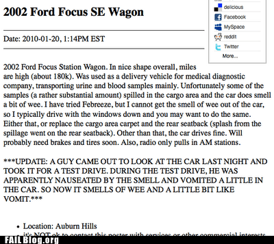 classifieds,craigslist,ford focus