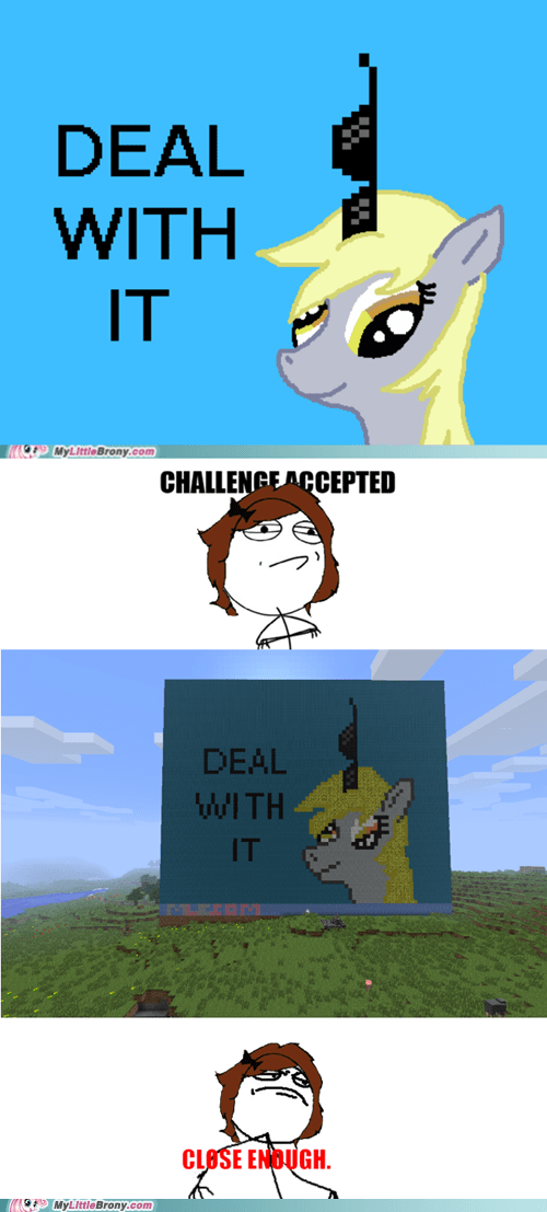 awesome brohoof nombookworm derpy hooves minecraft ponies - 6470331392