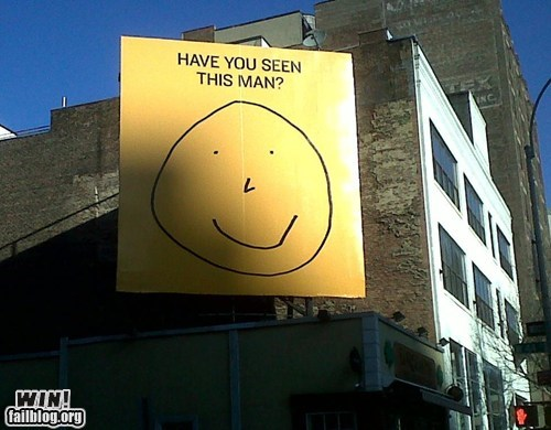 sign smiley face wanted - 6470356736