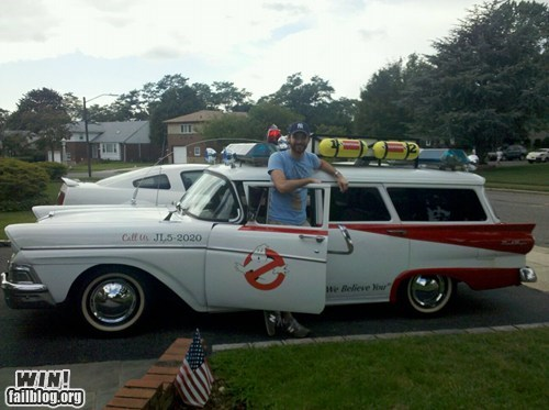 80s,car,custom,DIY,driving,Ghostbusters