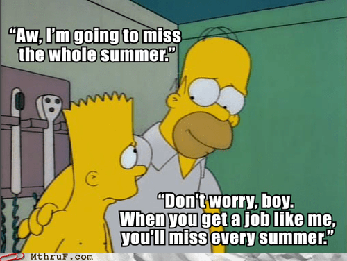 homer simpson summer bart simpson the simpsons - 6470382592