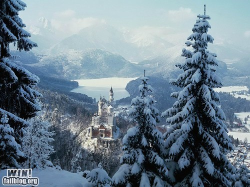 castle Germany magical snow wincation