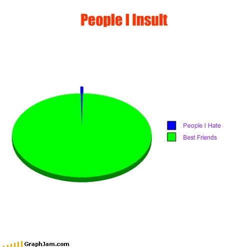 friends,insults,people,Pie Chart