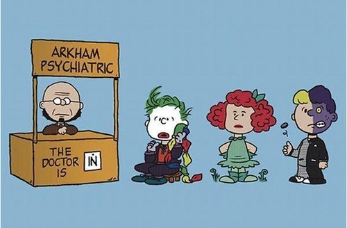 peanuts,charlie brown,batman,crossover
