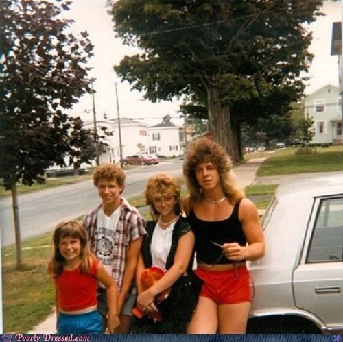 80s,family,family photo,mullet