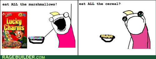 all the things cereal none of the things Rage Comics - 6471040768