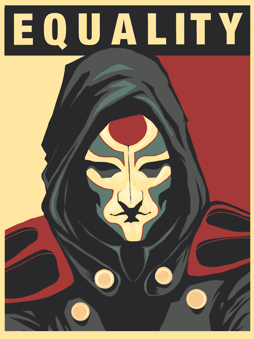 amon korra equality Fan Art Obama poster - 6471219968
