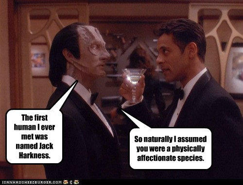 affectionate,assumption,Awkward,cardassians,human,Jack Harkness,misconception,mistake,Star Trek