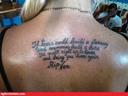 back tattoos misspelled tattoos quote - 6471812608