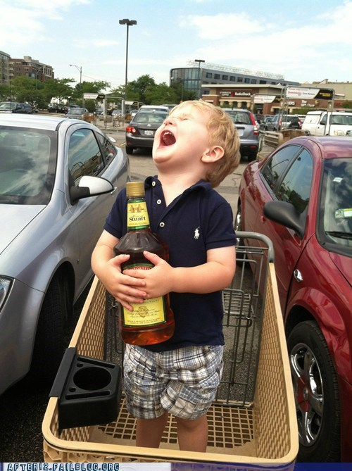 cart liquor liquor store scotch shopping cart tanked toddlers