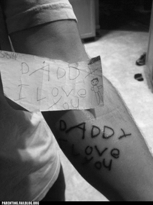 dady i love you tattoos - 6472166656