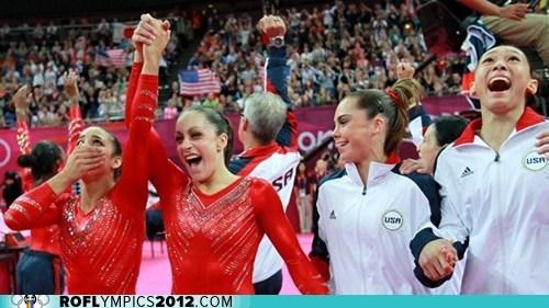 gold gymnastics London 2012 olympics team usa - 6472194560