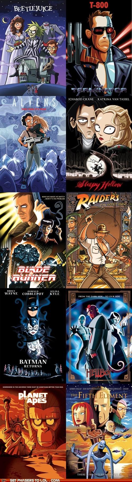 Aliens batman beetlejuice Blade Runner Ellen Ripley Indiana Jones newt raiders of the lost ark the fifth element tim burton - 6472296448