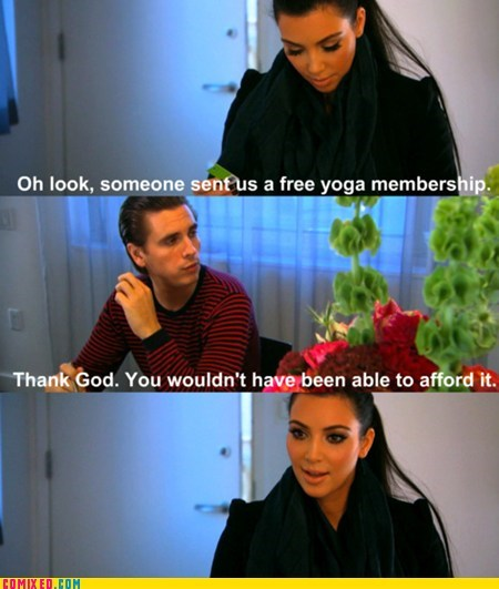 kim kardashian scott disick TV yoga - 6472365568