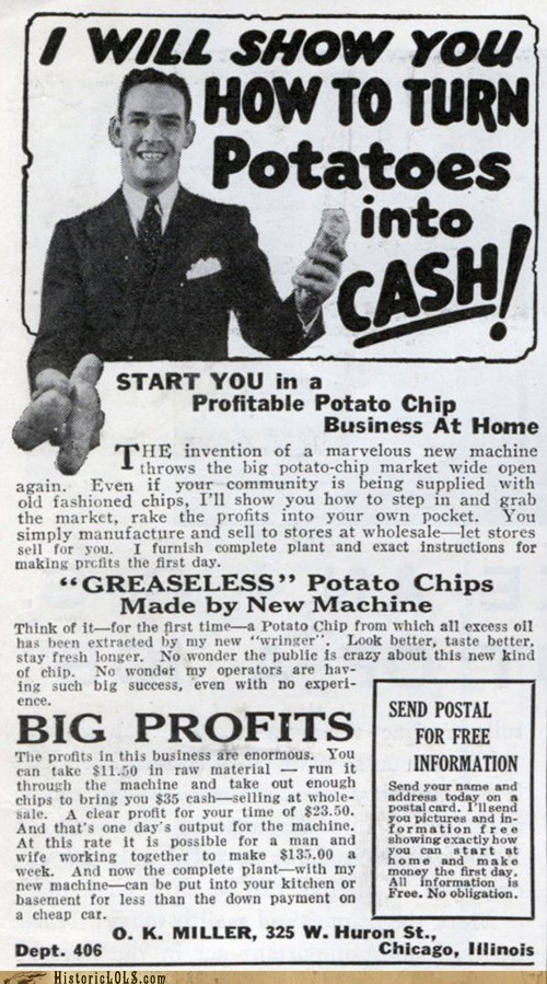 Ad,cash,money,potatoes