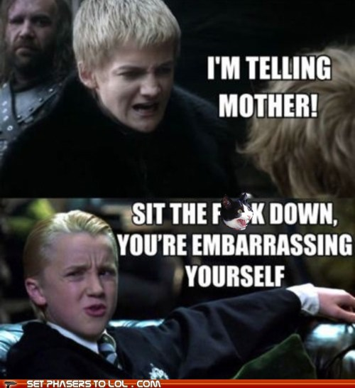 annoyed draco malfoy embarrassing Harry Potter jack gleeson joffrey baratheon rich shut up tom felton whining - 6472475136