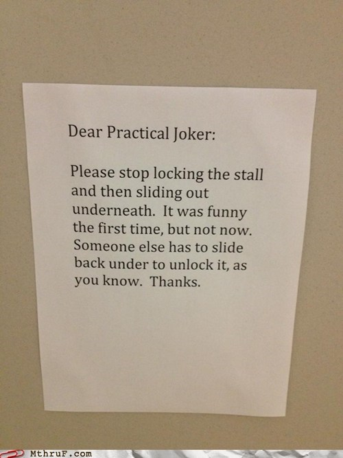 bathroom,bathroom stall,practical joker,restroom,toilet