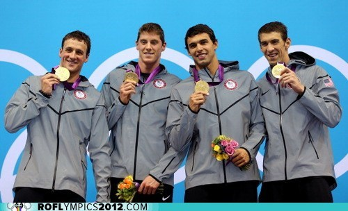 gold London 2012 Michael Phelps olympics ryan lochte swimming team usa - 6472632832
