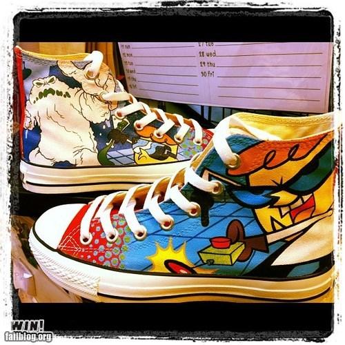 cartoons cartoon network converse dexters-lab shoes sneakers - 6472651008