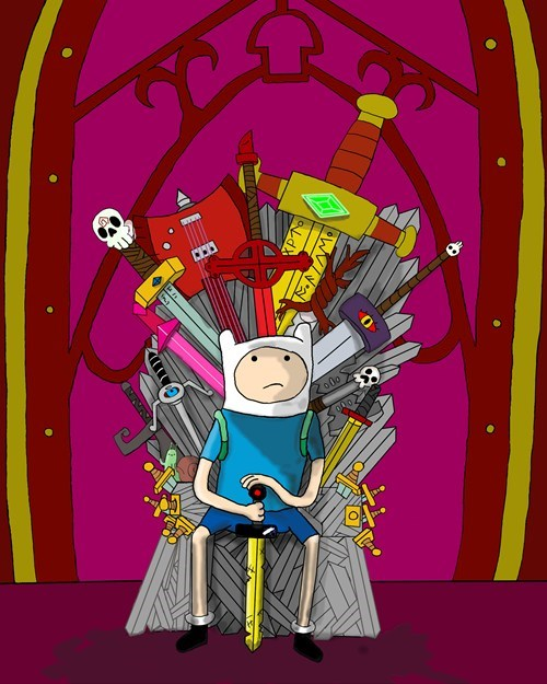adventure time cartoons crossover Fan Art Game of Thrones TV - 6472710656
