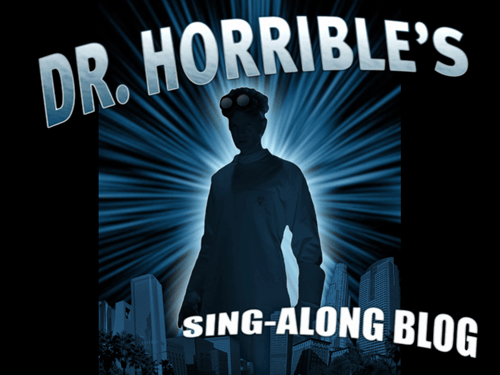 dr horrible,dr horrible's sing-along,dr-horribles-sing-along-blog,the cw
