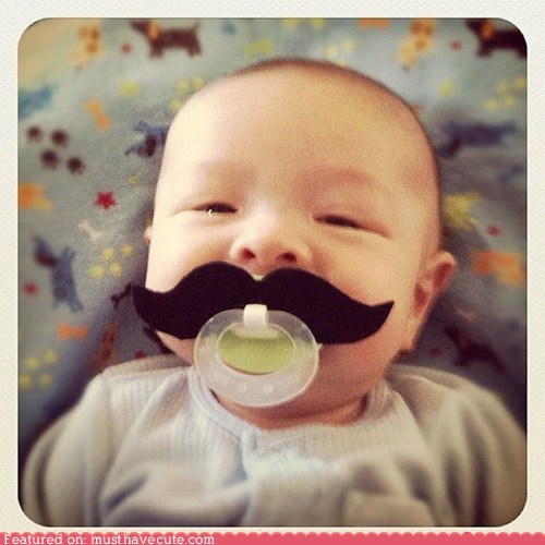 baby,binky,mustache,pacifier