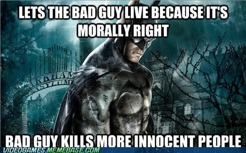 Arkham Asylum batman morals seems legit the feels - 6472990464