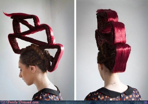 fashion geometry hair High Fashion