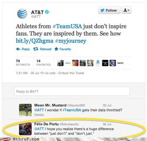 att,at&t,dont-just,just-dont,olympics,tweet,twitter