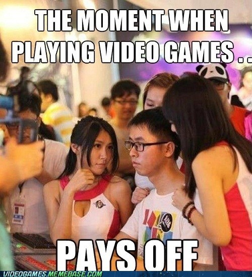 concentration,gaming,girls,high level,meme,pays off