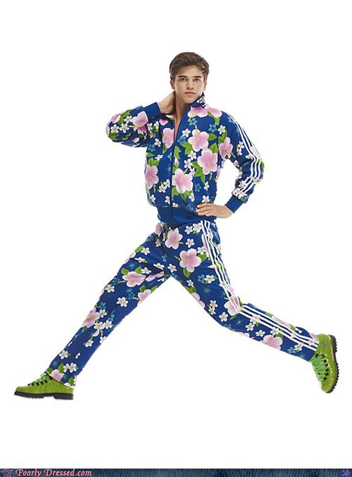 adidas floral spring track track suit - 6473157120