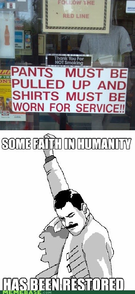 Memes,shirts and shoes,sign,some faith in humanity