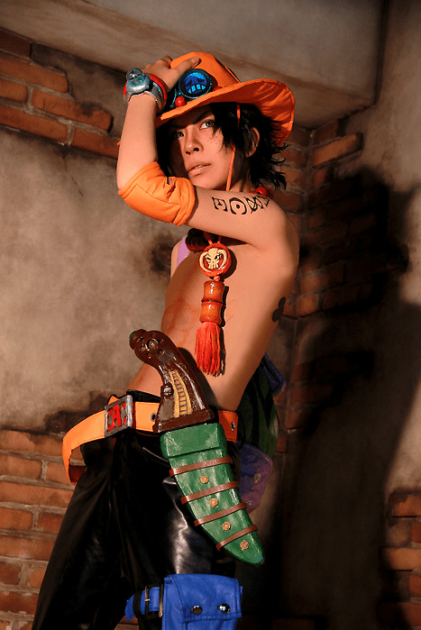 anime cosplay one piece portgas d ace - 6473783040