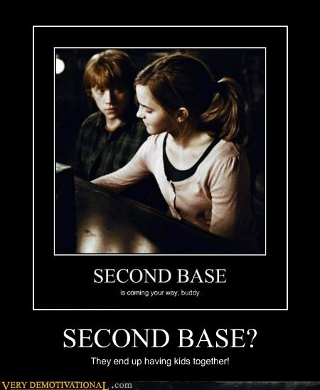 Harry Potter,hermoine,hilarious,Ron Weasley,second base