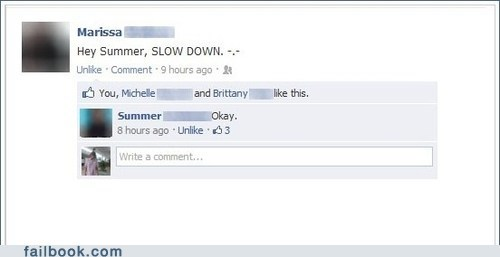 name slow down summer - 6474255360