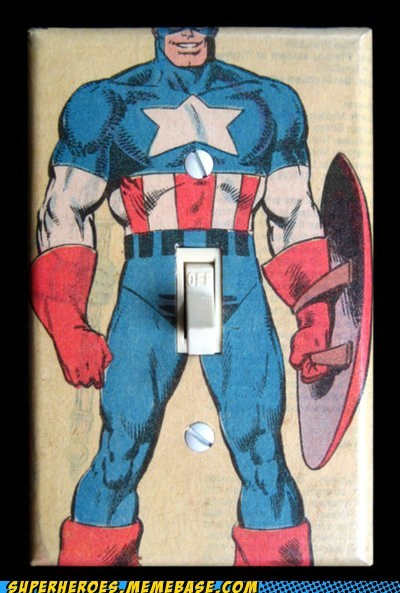 captain america light switch off on Random Heroics - 6474643968